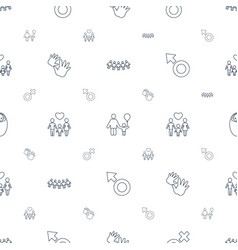 boy icons pattern seamless white background vector image