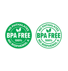 bpa free certificate icon no phthalates and no vector image