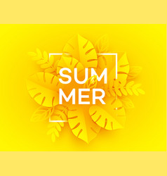 bright yellow summer background the inscription vector image