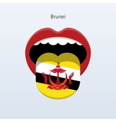 Brunei language Abstract human tongue vector