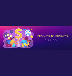 business-to-business sales concept banner header vector image