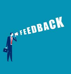 Businessman feedback concept business vector