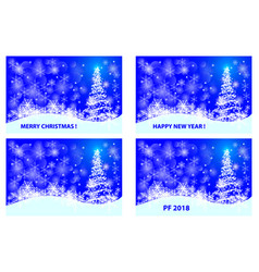 christmas card - set vector image