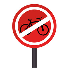 Circular contour road sign prohibited parking area vector