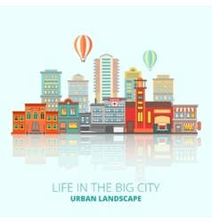 City Buildings Poster vector