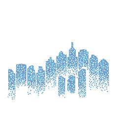 City skyline background vector