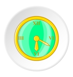 Clock icon cartoon style vector