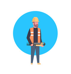 construction worker icon builder man wearing vector image