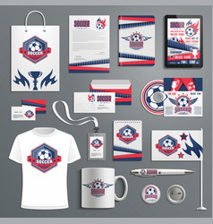 corporate identity for soccer football sport club vector image