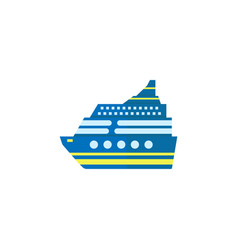 Cruise flat icon travel tourism vector