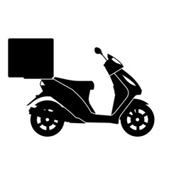 delivery motorcycle black icons vector image