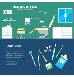 Dental office with seat and equipment tools vector