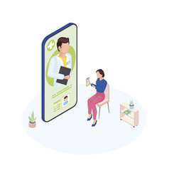 doctor on call service isometric general vector image