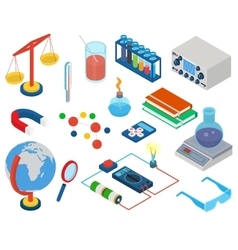 Education and School Science research laboratory vector image