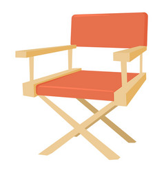 film director chair icon cartoon style vector image