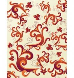 floral design background vector image