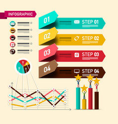 four steps infographic layout with design vector image