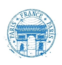 France logo design template stamp or Paris vector