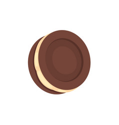 Freshly baked choco cookie icon vector