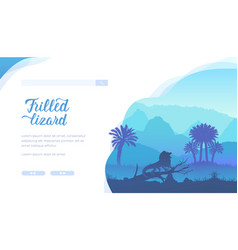 Frilled lizard landing page template vector