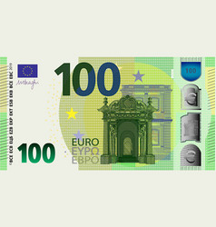 Front side stylistic banknote 100 euro vector