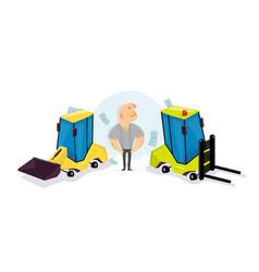 Funny cartoon loader cartoon character vector