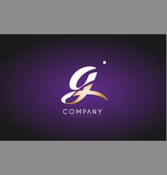 g alphabet letter gold golden logo icon design vector image