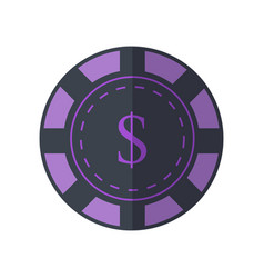 gambling chip in flat design vector image