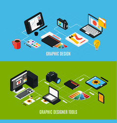 graphic design banners set vector image