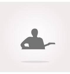 guitarist web icon button isolated on white vector image
