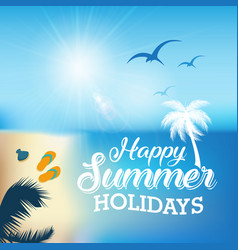 happy summer vector image