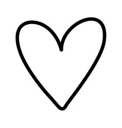 heart icon love design graphic vector image