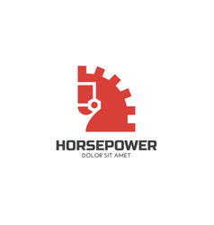 horse power logo vector image