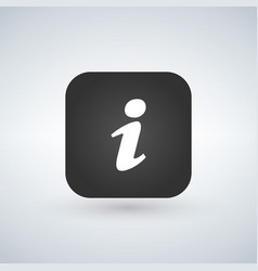 info icon app button with shadow vector image