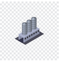 Isolated tank warehouse isometric water storage vector