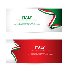Italy independence day template design vector