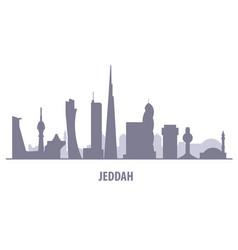 Jeddah city skyline - jiddah landmarks and vector