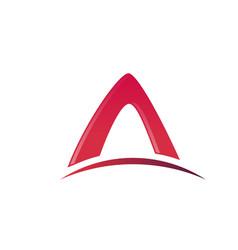 letter a logo architecture logo design concept vector image