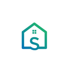 Letter s architect home construction creative vector