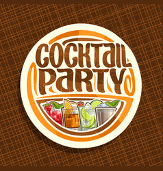 Logo for cocktail party vector
