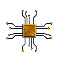 Microchip technology symbol vector