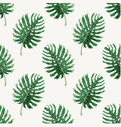 monstera deliciousa tropical leaf seamless vector image