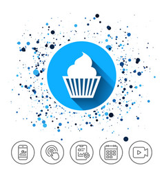muffin sign icon cupcake symbol vector image