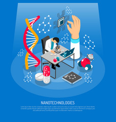 Nano technologies isometric composition vector