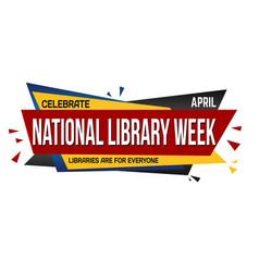 national library week banner design vector image