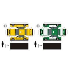 Paper models taxi vector