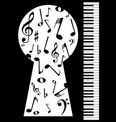 Piano keyhole vector