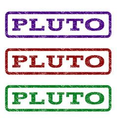 Pluto watermark stamp vector