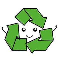 Recycle arrows symbol icon vector