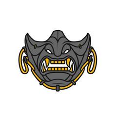 samurai half mask vector image